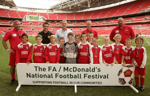 Winwick Athletic U10s Play on Wembley Turf in Aug 2009