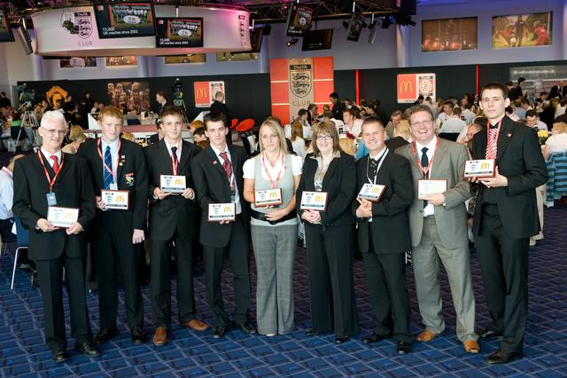 Club Wembley collecting National Volunteer Award 2008